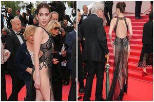 Ngọc Trinh gây sốc khi mặc như không mặc ở Cannes
