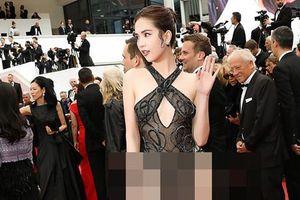 CĐM chỉ trích thời trang khoe thân 'lố lăng' của Ngọc Trinh tại LHP Cannes