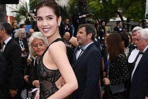 Ngọc Trinh lộ vòng 3 phản cảm như 'trò lố' trên thảm đỏ LHP Cannes 2019