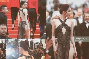 Ngọc Trinh tiếp tục gây 'choáng' với váy không thể hở hơn ở Cannes