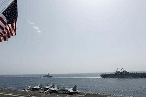 Tàu chiến Mỹ tập trận trên biển Ả Rập giữa căng thẳng với Iran