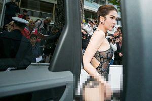 Trang phục 'mặc như không mặc' của Ngọc Trinh bị chê 'gợi dục' tại Cannes 2019