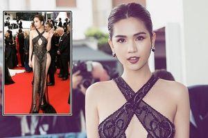 Báo Trung Quốc bình luận Ngọc Trinh 'gợi dục' tại Cannes