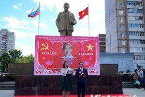 Kỷ niệm sinh nhật Bác Hồ trên thành phố quê hương Lenin