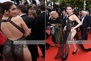 'Nữ hoàng nội y' Ngọc Trinh mặc như không lên thảm đỏ LHP Cannes