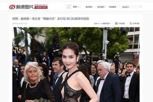 Nhận 'gạch đá' với bộ trang phục táo bạo tại Cannes, Ngọc Trinh thản nhiên: 'Thấy hợp và mang hiệu ứng thảm đỏ là được'