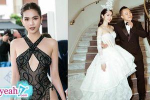 Ngọc Trinh bất chấp mặt hở để gây chú ý tại Cannes nhưng Vũ Khắc Tiệp vẫn chỉ khen Quỳnh Hương: 'Út luôn là công chúa của Sếp'