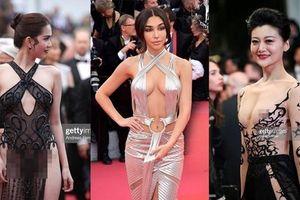 Ngoài Ngọc Trinh, nhiều khách nữ vô danh cũng đua nhau khoe thân trên thảm đỏ Cannes