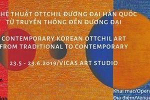 Khám phá nghệ thuật Ottchil đương đại Hàn Quốc tại Hà Nội