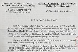 Cục Thi hành án dân sự TP Hà Nội nói gì?