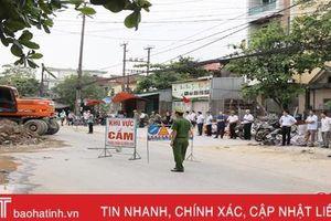 Thành phố Hà Tĩnh bảo vệ thi công đường Nguyễn Công Trứ