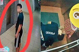 Xuất hiện kẻ 'biến thái' quỳ xuống nhìn trộm phía trong váy của bé gái trong thang máy tại Quy Nhơn