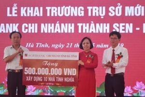 Khai trương trụ sở Agribank Chi nhánh Thành Sen - Hà Tĩnh