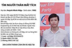 Truy tìm tài xế Go-Viet mất tích bí ẩn