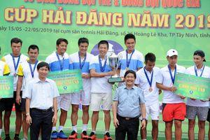 Hải Đăng Tây Ninh vô địch giải quần vợt đồng đội nam quốc gia 2019
