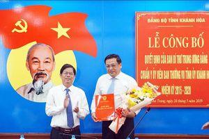 Chuẩn y UV Ban Thường vụ với Bí thư Thành ủy Nha Trang