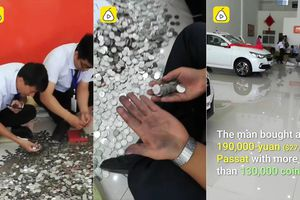 Khách hàng mang tiền xu đi mua ô tô 640 triệu đồng, nhân viên vật vã đếm suốt 3 ngày