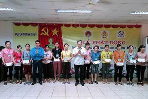 Phú Thọ: LĐLĐ huyện Thanh Thủy phát động Tháng An toàn vệ sinh LĐ