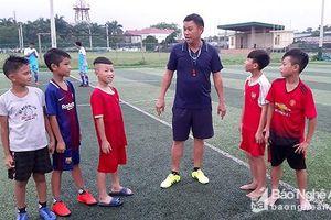 Bóng đá nhí Đô Lương nỗ lực trước mùa giải mới