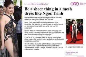 Chiếc váy 'mặc như không' của Ngọc Trinh bị báo Anh chế giễu
