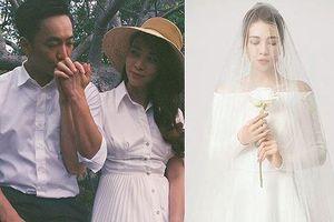 Đàm Thu Trang bất ngờ khoe ảnh diện váy cưới