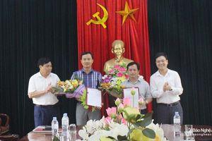 TX Thái Hòa bổ nhiệm lãnh đạo Văn phòng Thị ủy