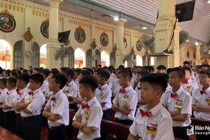 Giáo xứ Nghi Lộc khai mạc cao điểm tuần chầu lượt