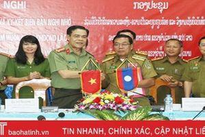 Công an Hà Tĩnh - Bôlykhămxây - Khăm Muộn ký kết phối hợp đảm bảo ANTT
