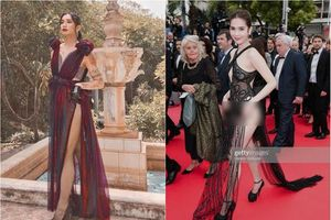 Sửng sốt màn mặc đồ xuyên thấu của BB Trần nhằm 'đá xoáy' Ngọc Trinh tại Cannes?