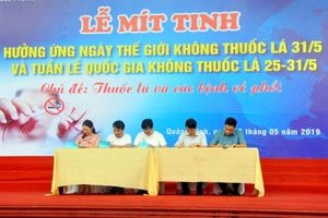 Quảng Ninh: Mít tinh hưởng ứng Tuần lễ quốc gia không khói thuốc lá
