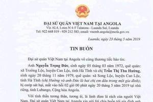 2 chị em dâu quê Hà Tĩnh bị cướp sát hại tại Angola