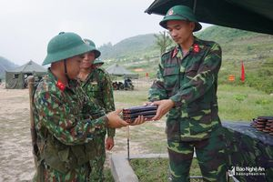 Lính mới thực hành 3 tiếng nổ,Trung đoàn 764 đạt đơn vị giỏi