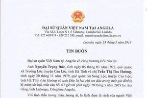 Hai lao động người Hà Tĩnh tại Cộng hòa Angola bị cướp sát hại