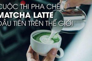 Mê hoặc tách matcha latte nghệ thuật dự thi tầm thế giới