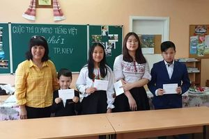 Sôi động cuộc thi Olympic tiếng Việt tại Ukraine