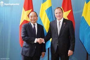 Chùm ảnh: Thủ tướng Nguyễn Xuân Phúc hội đàm với Thủ tướng Thụy Điển