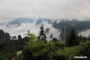 Trương Gia Giới đẹp lung linh khi mây mù bao phủ