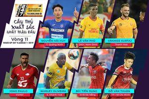Vòng 11 V.League 2019: 7 gương mặt xuất sắc nhất