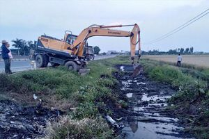 Mương nước chất thải độc hại ở Hải Phòng: Công an đang điều tra