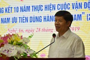 Nghệ An tổng kết 10 năm Cuộc vận động 'Người Việt Nam ưu tiên dùng hàng Việt Nam'