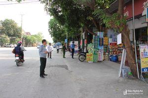 Lấn chiếm vỉa hè diễn ra ở nhiều phường, xã tại thành phố Vinh