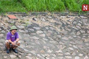 Người dân Hà Nội thích thú câu cá tại sông Tô Lịch đang hồi sinh