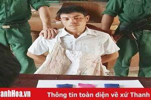Bắt quả tang đối tượng người Lào vận chuyển 1.200 viên ma túy tổng hợp