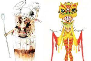 Ngoài 'Bàn thờ', thiết kế Cà phê phin hay Múa lân 'độc, lạ' không kém