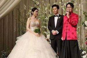 Hôn lễ lãng mạn ngập tràn hoa của 'bom sex Hàn Quốc'