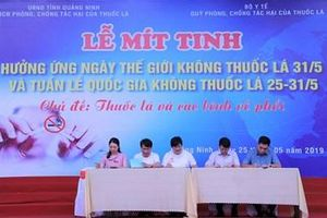 Tỉnh Quảng Ninh hưởng ứng ngày thế giới không thuốc lá và tuần lễ quốc gia không thuốc lá