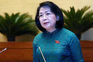 Phó chủ tịch nước thay Chủ tịch nước Nguyễn Phú Trọng trình Quốc hội Công ước 98