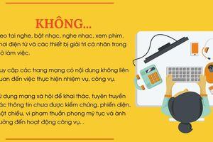 'Cán bộ' ở Thừa Thiên - Huế 'không đeo tai nghe, bật nhạc' giờ làm việc