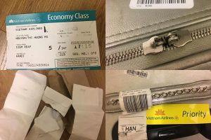 Khách hàng Vietnam Airlines 'tố' bị bẻ khóa hành lý, đồ đạc xáo trộn