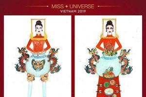 Tranh cãi xung quanh thiết kế 'bàn thờ' cho Hoàng Thùy tham dự Miss Universe 2019